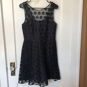 Betsy Johnson Black Polka-Dot Dress